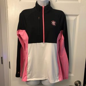 Antigua athletic work out half zip pullover